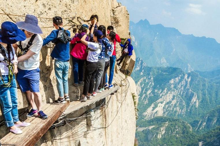 Hua Shan, la caminata extrema para los insatisfechos