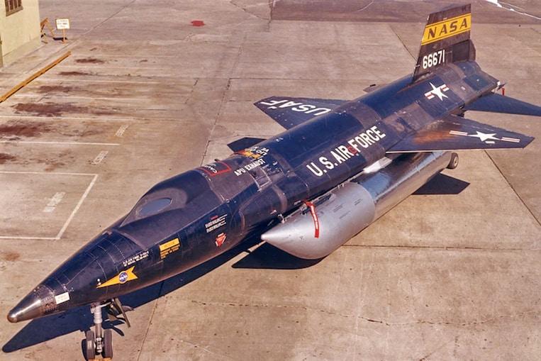 North American X-15 (velocidad máxima: 7.274 km/h)